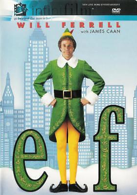 Elf (DVD 2 disc set) Infinifilm Will Ferrell, James Caan, Bob Newhart, Z