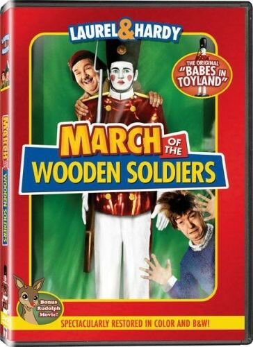 NEW March of the Wooden Soldiers DVD Color and  B&W Full Frame