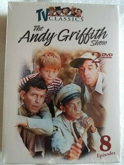 USED-The Andy Griffith Show - TV Classics 8 Episodes 2 DVD's-black and w