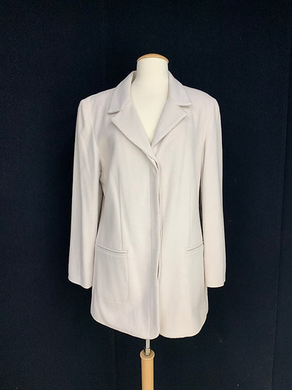 J JILL Women's size 14 Light Blush Wool Blend Blazer Jacket Coat
