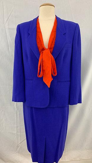 Evan-Picone 2 Piece Suit Size 10 Ocean Breeze Blue Jacket Skirt