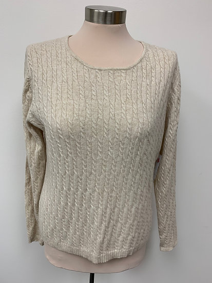 NWT Lord and Taylor Cream Medium Cashmere Exclusively For You 2 Ply Cashmere Cab