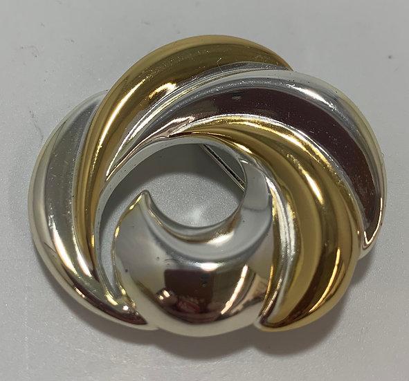 Vintage Napier Gold/Silver Tone Swirl Brooch/Pin