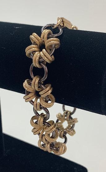 """Vintage West Germany Made Metal Ring Bracelet 8"""""""
