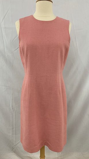 Ann Taylor Petites size 8P Womens Sheath Linen Blend Light Salmon Dress Sleevele