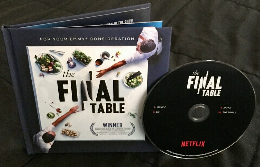 FYC 2019 the FINAL TABLE DVD (1) Pressbook Season 1 EMMY Netflix