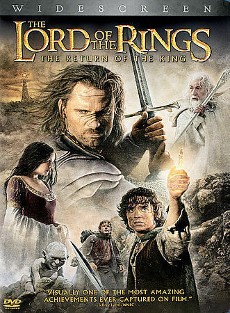THE LORD OF THE RINGS, THE RETURN OF THE KING (DVD)  Winner of 11 Academ