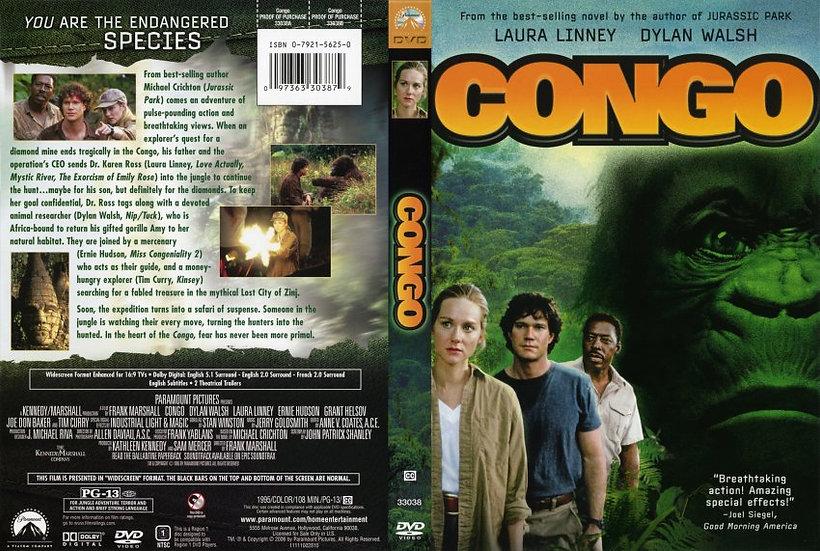 Congo (DVD, 2006 Region 1) 1995 Laura Linney, Dylan Walsh