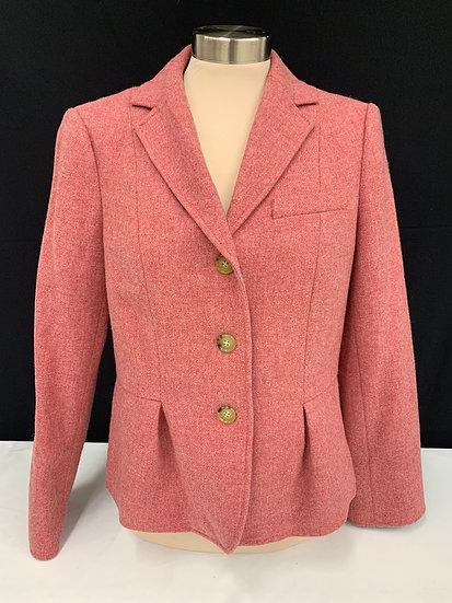 Talbots dusty rose pink wool blazer sz 10