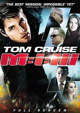 Mission: Impossible III (DVD 2006,  Fullscreen Region 1) Tom Cruise