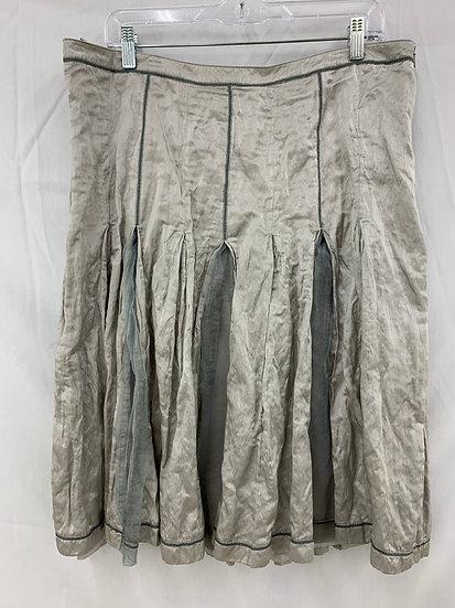 Apanage size 46 Skirt Below Knee Length Silver Gray Renaissance Festival Goth Gr