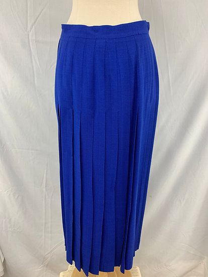 Christian Dior Separates Paris New York Women's sz 8 Blue Rayon Accordian Pleate