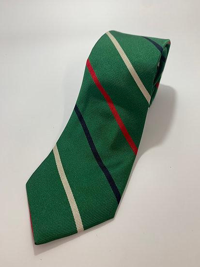 "B. Forman Company Vintage 100% Silk Green Striped Tie 58"""
