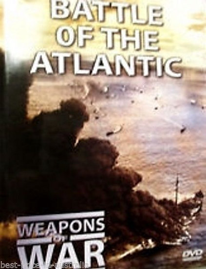 USED-WEAPONS OF WAR - Battle Of The Atlantic DVD + BOOK #8