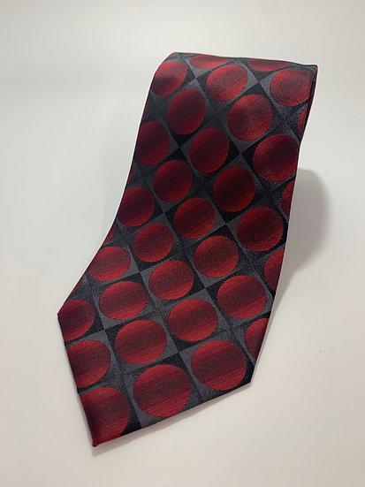 "John Ashford 100% Silk Red Circle  Tie 61"""
