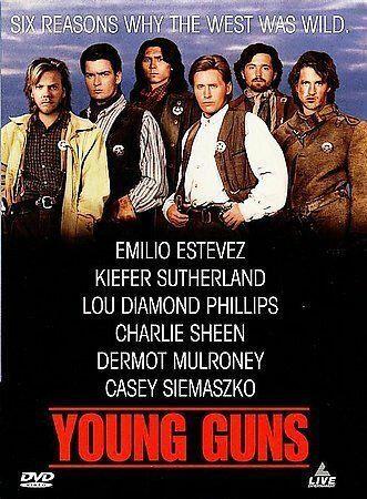 Young Guns (DVD, 1988 Emilio Estevez, Kiefer Sutherland, Lou Diamond Phillips, C