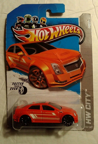 Hot Wheels Cadillac CTS-V HW City 2012 #V5400-09A0A Orange 100/247