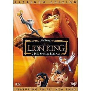DISNEY: THE LION KING (DVD, 2-Disc Set, Platinum Edition) W/SLIPCOVER