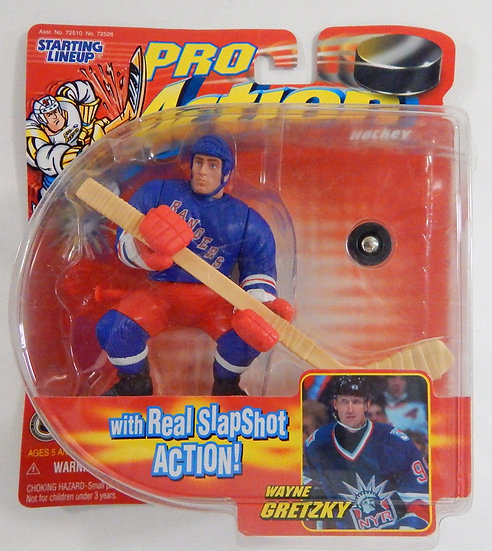 NEW Wayne Gretzky Rangers 1998 Starting Line Up Pro Action Hockey Figure