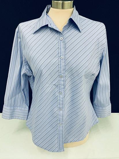 DCC Women's Missy Shirt, size L, blue/navy, white, polyester, , nylon, spandex s