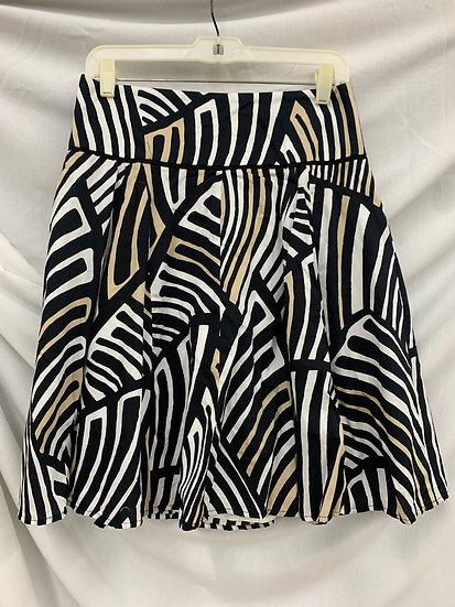 WHITE HOUSE BLACK MARKET Size 4 Black White Biege Skirt