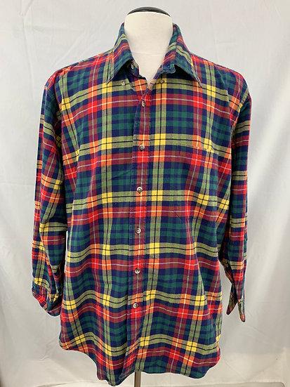 Vintage O'Connell's Lucas Chelf Men's size XXl Preppy Plaid Buttondown Shirt