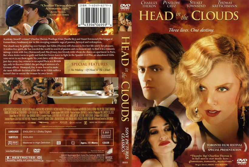 Head in the Clouds (DVD 2005) Charlize Theron/ Penelope Cruz/ Stuart Townsend/ T
