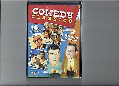 Comedy Classics (DVD, 2010, 2-Disc Set) 16 episodes & 2 bonus movies