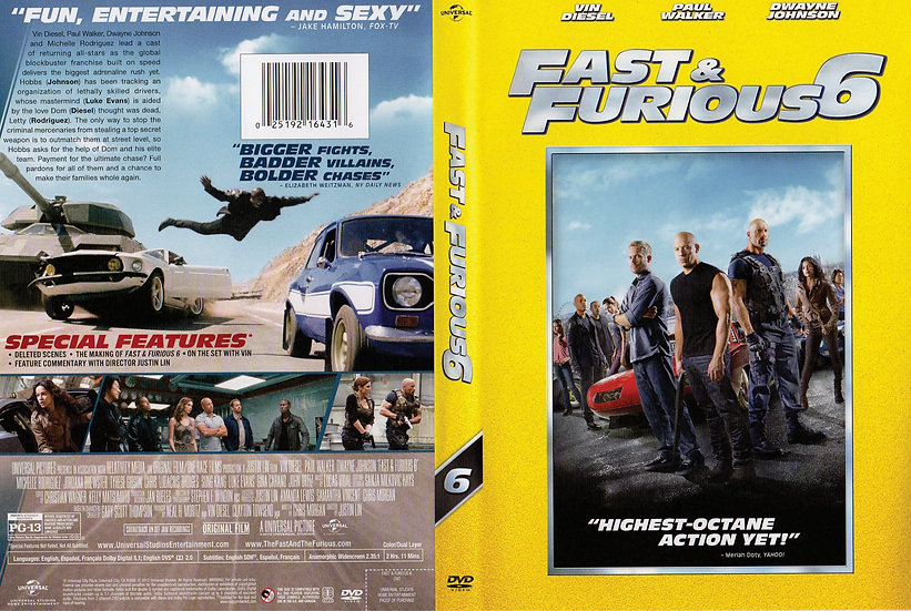NEW Fast and Furious 6 Highest Octane Action Yet (DVD 2013