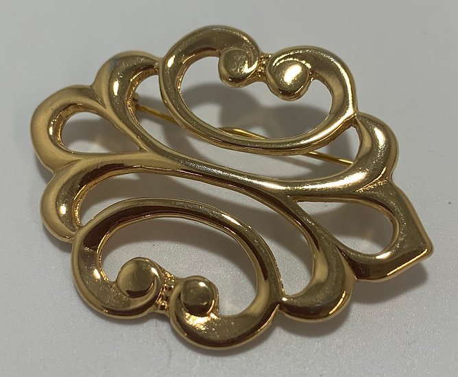 Vintage GJD 'Ginnie Johansen Desiged' Gold Tone Brooch/Pin