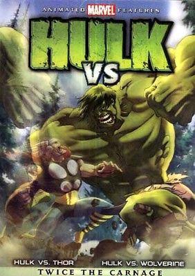 HULK VS (DVD, 2009) Hulk vs Thor/Hulk vs Wolverine- Twice The Carnage