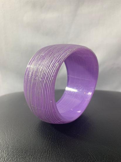 Purple Large Lined Bangle Vintage