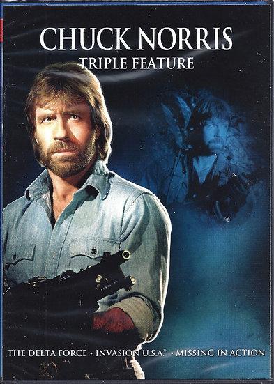 Chuck Norris Triple Feature (DVD, 2012, 3 Disc Set)  Breaker! Breaker!  Hero and