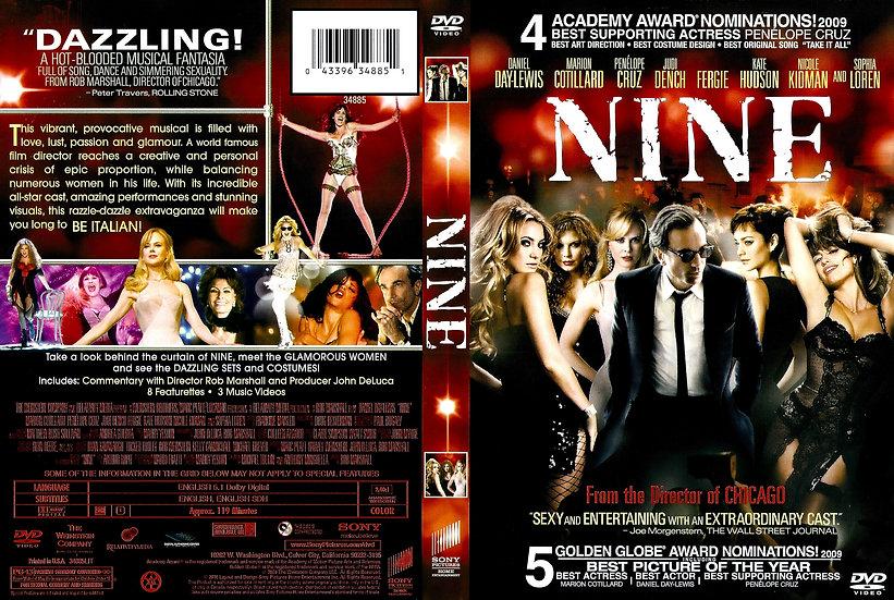 NINE (DVD 2010) Daniel Day-Lewis, Nicole Kidman, Penelope Cruz