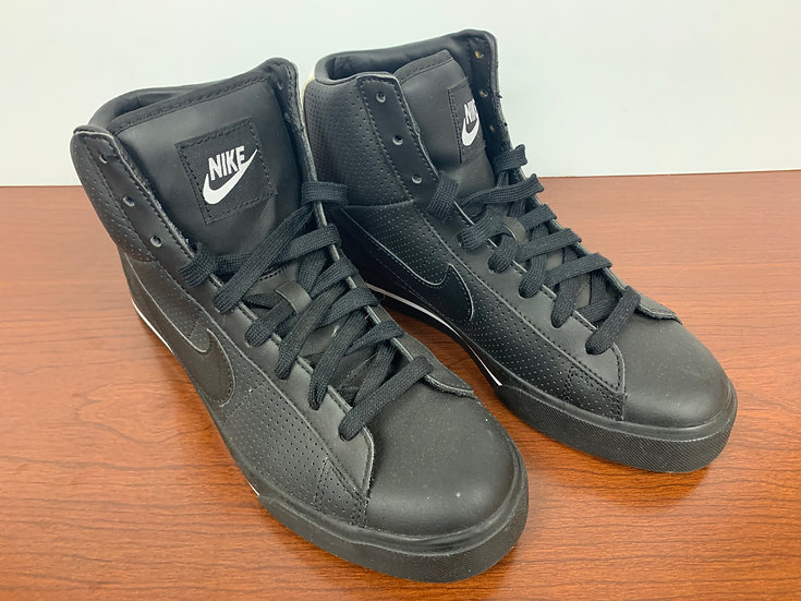 Nike Black Classic Retro High Top BRS Black sole and Swoosh Mens Size