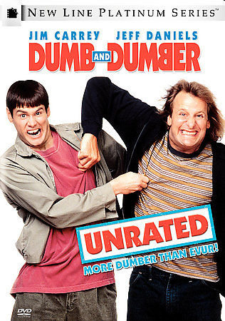 DUMB AND DUMBER-UNRATED Jim Carrey Jeff Daniels Comedy Classic DVD