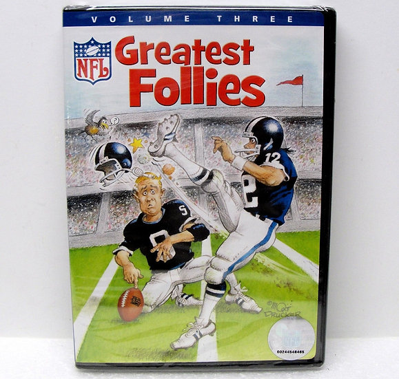 NEW NFL Greatest Follies - Volume THREE (DVD, 2007) OFFICIAL NFL