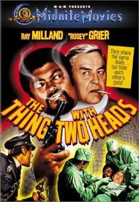 The Thing with Two Heads (DVD, 2001) Ray Milland Rosey Grier MGM Midnight Movie