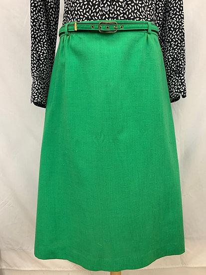 Vintage 1970's Cos Cob Green A Line Skirt Retro