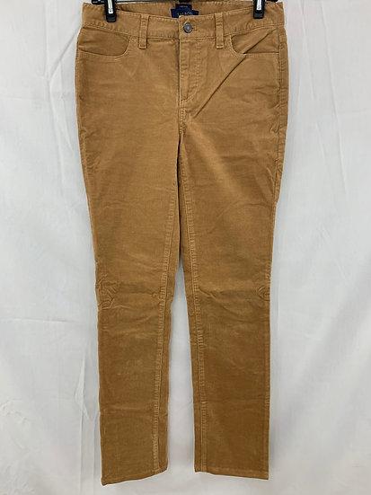 Talbots Women sz 4L Tan Corduroy Heritage 4 Pocket Pant Cotton Stretch Jeans