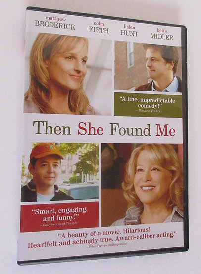 USED-Then She Found Me (DVD)  Matthew Broderick Colin Firth Heleh Hunt B