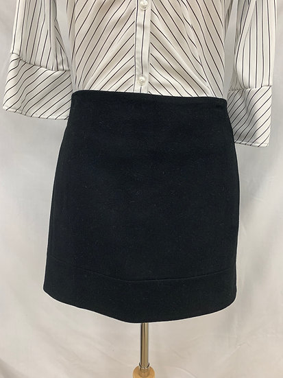 J.Crew Size 0 Women's Black Wool Blend Short Skirt Lined Hand Pockets
