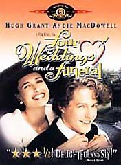 Four Weddings and a Funeral (DVD, 1999) Widescreen & Standard