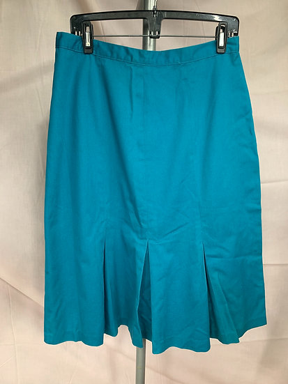 Natural Dimensions Women's size 16 Blue Front Pleated Skirt