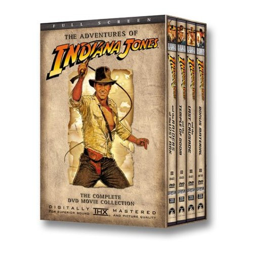 the Adventures of Indiana Jones: Complete DVD Movie Collection Full Scre