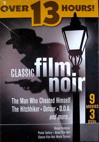 USED-Classic Film Noir (DVD-3 disc) 9 Films 13 hours