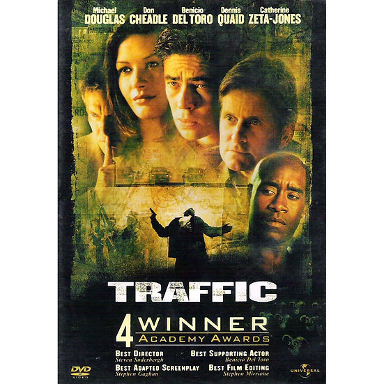 Traffic (DVD, 2002) Michael Douglas/Benicio Del Toro/Catherine Zeta-Jones
