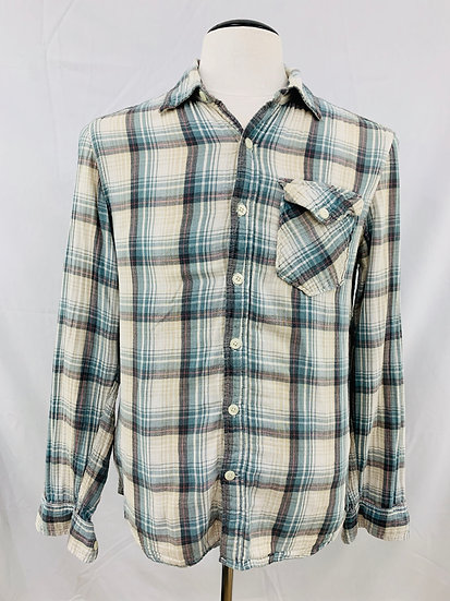 Converse One Star Shirt size Small Mens Long Sleeve Button Down Plaid