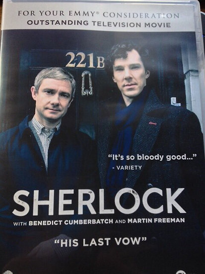 FYC 2018 Sherlock HIs Last Vow For Your EMMY Consideration (DVD) Outstanding Tel