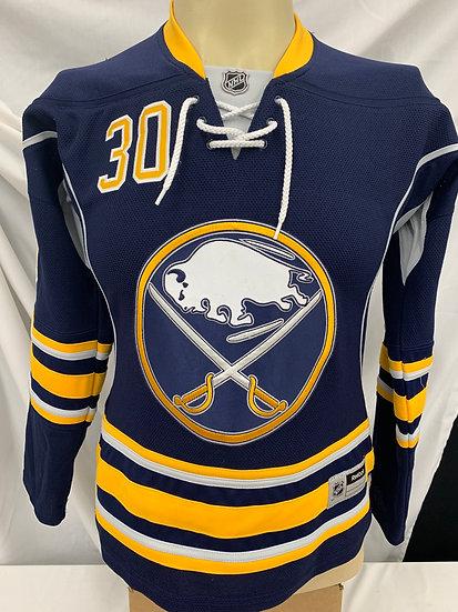Ryan Miller Reebok Buffalo Sabres Blue Jersey womens size S/P